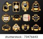 set of luxury labels   Shutterstock .eps vector #73476643