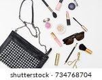 styled femake fashion... | Shutterstock . vector #734768704