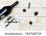 new year        s celebration.... | Shutterstock . vector #734768734