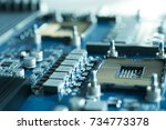 electronic semiconductor... | Shutterstock . vector #734773378