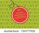christmas present box card...   Shutterstock .eps vector #734777920