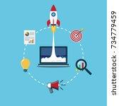 vector illustration concept for ... | Shutterstock .eps vector #734779459