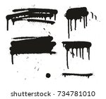 spray paint abstract vector... | Shutterstock .eps vector #734781010