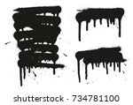 spray paint abstract vector... | Shutterstock .eps vector #734781100