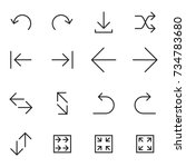 set of linear arrow icons....