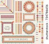 34 decorative vector pattern... | Shutterstock .eps vector #734786656