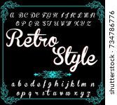 handcrafted vector alphabet... | Shutterstock .eps vector #734786776