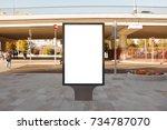 blank street billboard poster... | Shutterstock . vector #734787070