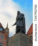 monument to albrecht durer in... | Shutterstock . vector #734790700