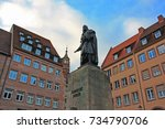 monument to albrecht durer in... | Shutterstock . vector #734790706