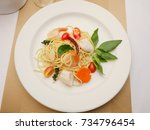 Spaghetti Stir Fried. It Has A...