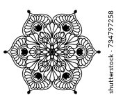 mandalas for coloring book.... | Shutterstock .eps vector #734797258