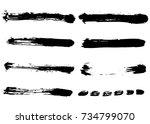 hand drawn brush strokes ... | Shutterstock .eps vector #734799070
