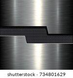 metal background  silver...   Shutterstock .eps vector #734801629