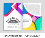 abstract vector layout... | Shutterstock .eps vector #734808334