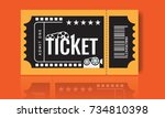 cinema ticket sample template... | Shutterstock .eps vector #734810398