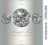 luxury background with diamonds ...   Shutterstock .eps vector #73481386