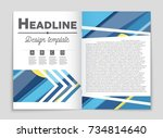 abstract vector layout... | Shutterstock .eps vector #734814640
