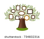 genealogical family tree with... | Shutterstock .eps vector #734832316