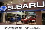 sydney  australia   october 15  ... | Shutterstock . vector #734832688