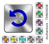 undo changes engraved icons on... | Shutterstock .eps vector #734834038