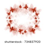 illustration of pink... | Shutterstock . vector #734837920