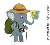vector cartoon character... | Shutterstock .eps vector #734841484