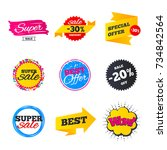 sale banners templates. best... | Shutterstock .eps vector #734842564