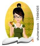 Morning Tea. Illustration Of A...