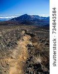 colors of massive volcanic... | Shutterstock . vector #734843584