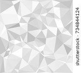 gray white polygonal background ... | Shutterstock .eps vector #734844124