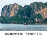 krabi thailand   27 april 2017  ...   Shutterstock . vector #734844340