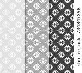 geometric seamless pattern.... | Shutterstock .eps vector #734849398