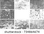 horizontal textured stripes.... | Shutterstock .eps vector #734864674