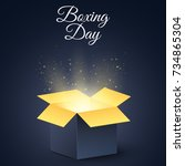 happy boxing day. a dark ... | Shutterstock .eps vector #734865304