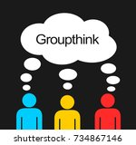 groupthink   individuals have... | Shutterstock .eps vector #734867146