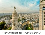 view of the city from the sacr  ... | Shutterstock . vector #734891440