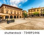 plaza mayor  main square in... | Shutterstock . vector #734891446