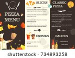 menu template for restaurant... | Shutterstock . vector #734893258