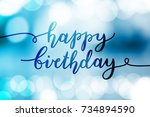 happy birthday  vector...   Shutterstock .eps vector #734894590
