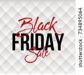 abstract vector black friday... | Shutterstock .eps vector #734895064