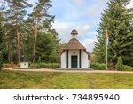 national honorary cemetery ... | Shutterstock . vector #734895940