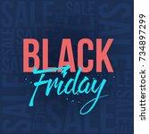 abstract vector black friday... | Shutterstock .eps vector #734897299
