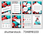 abstract vector layout...   Shutterstock .eps vector #734898103