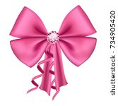 vector illustration  pink satin ... | Shutterstock .eps vector #734905420