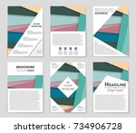 abstract vector layout... | Shutterstock .eps vector #734906728