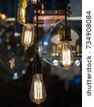 decorative antique edison style ... | Shutterstock . vector #734908084