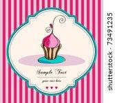 vector card. illustration of... | Shutterstock .eps vector #73491235