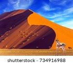 african antelope impala...   Shutterstock . vector #734916988