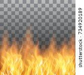 vector red fire transparent... | Shutterstock .eps vector #734920189